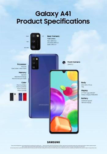 Samsung Galaxy A41 specs