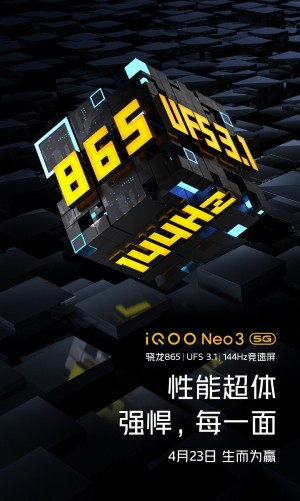 vivo iQOO NEO 3 5G to arrive with 144 Hz screen