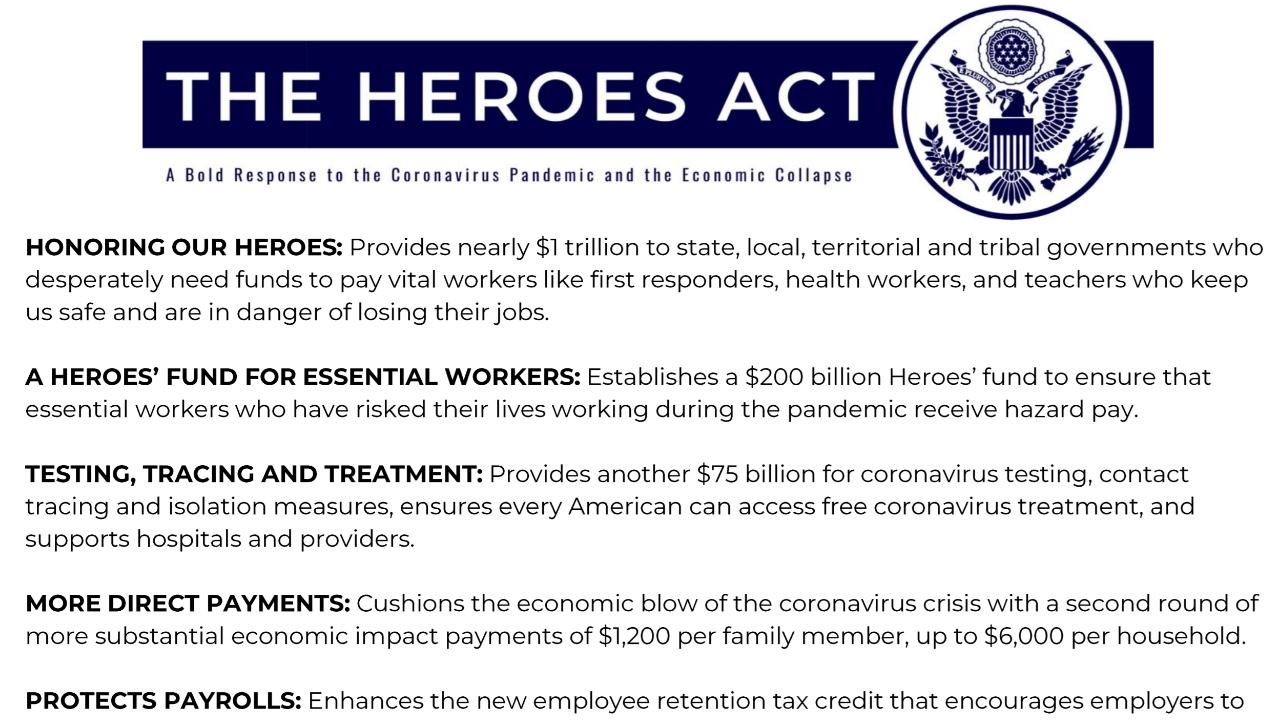 New $3 Trillion Coronavirus Relief Bill: Americans Could Be Getting Second Stimulus Checks