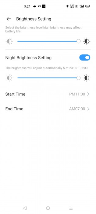 Adjust display brightness from the Realme Link app