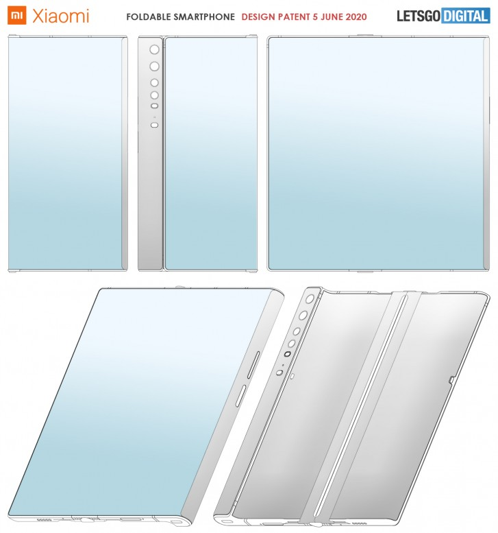 Xiaomi patents folding phone that looks a lot like the Huawei Mate X