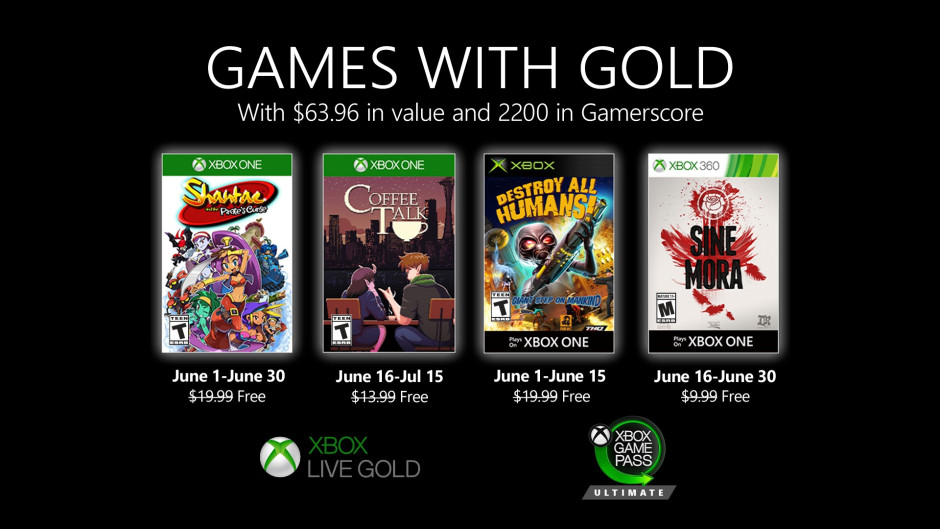 Games with Gold - June 2020